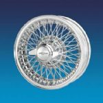 "Jaguar S-type 3.4 to late 1967 Chrome (Curly Hub) 5""x15""   72 spokes  wire wheel"
